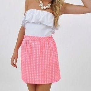 Lily Pulitzer strapless dress (size M)
